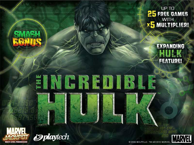 THE INCREDIBLE HULK splash screen
