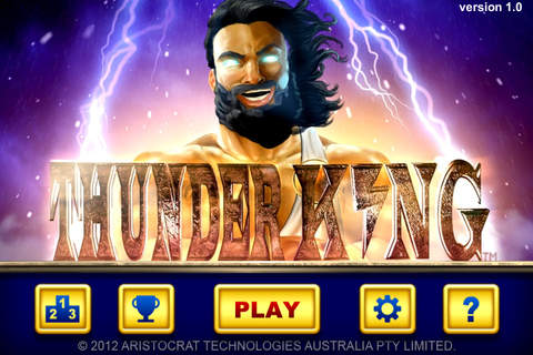 THUNDER KING splash screen